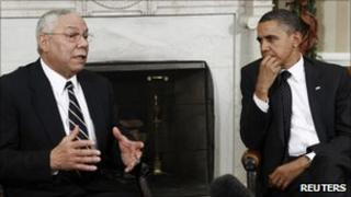 Colin Powell and President Barack Obama