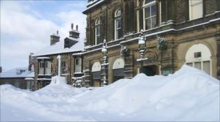 Buxton in the snow