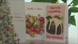 Greater Manchester Police's Christmas pudding card