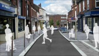 Artist's impression of Oakengates town centre after regeneration (pic: Telford & Wrekin Council)