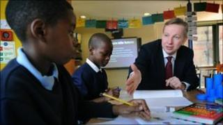 Mr Gove at Durand Academy Primary School