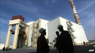 Iran's nuclear reactor at Bushehr (26 October 2010)