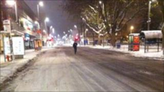 Ice in Southampton City Centre