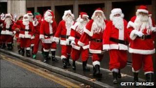 Santas (generic image)