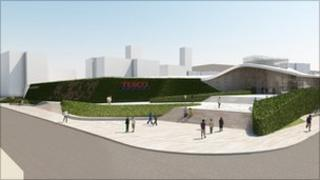 Artist's impression of Nottingham Eastside Tesco