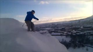 Skier on Arthur's Seat