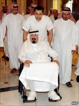 King Abdullah ipictured n Riyadh on November 19