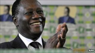 Alassane Ouattara (file image)