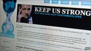 Wikileaks homepage - 3 December 2010