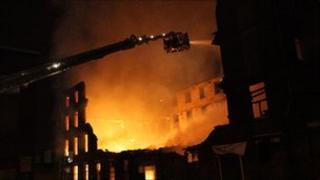 Fire at former mill in Kent Street, Preston