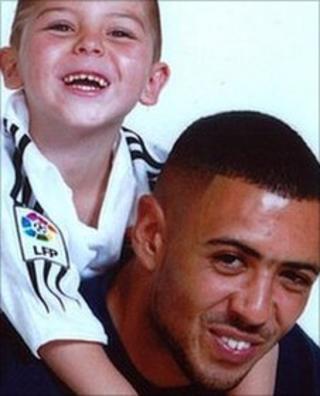 George Devonish with son Kaine