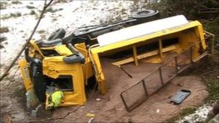 Gritter accident