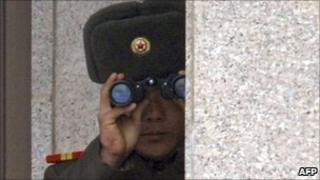 North Korean soldier - file photo