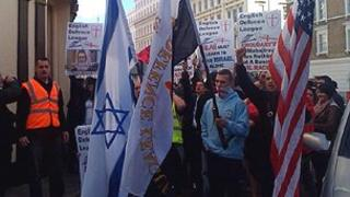 EDL supporters marching in London