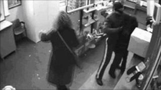 Hove post office robbery CCTV
