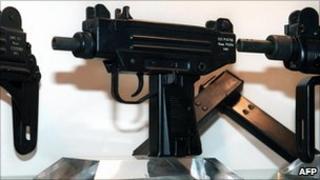Uzi pistol stock photo