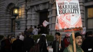 Gay marriage supporter in San Francisco