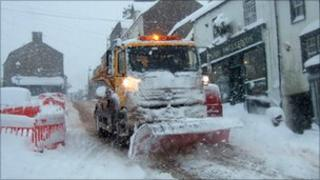 Alston community snow plough (pic courtesy of Claire Lumley)