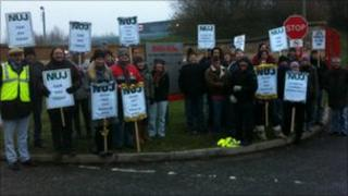 Daily Echo staff on strike on Tuesday