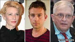 Cate Blanchett, Damon Albarn and David Hockney