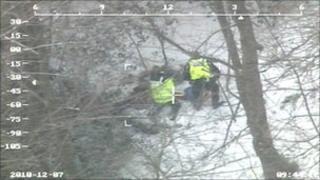 Saltburn snow rescue