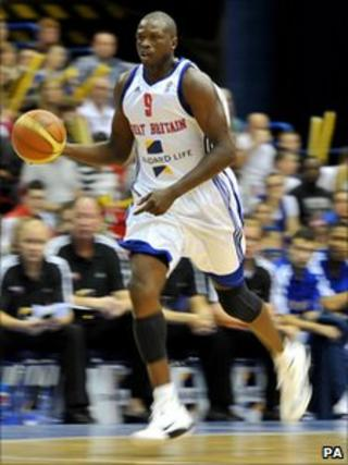 Basketball star Luol Deng