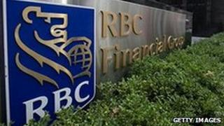 The Royal Bank of Canada sign