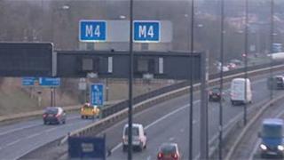 M4 near Newport