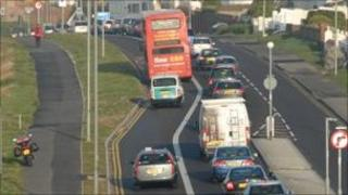 Telscombe Cliffs to Ovingdean section of bus lane