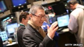 Youku chief executive Victor Koo tours the New York Stock Exchange