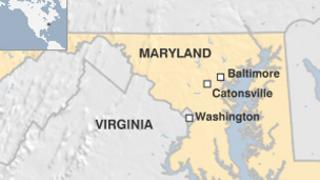 A map of the US state of Maryland