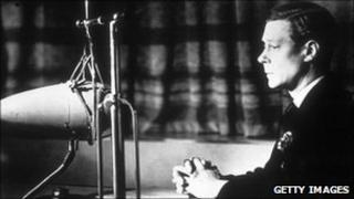 King Edward VIII making a broadcast in 1935