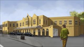Plans for Bath Spa railway station