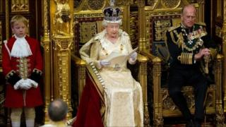 The Queen and Prince Philip at the State Opening of Parliament in May 2010