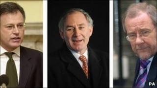 Former Labour MPs Stephen Byers, Geoff Hoon and Richard Caborn