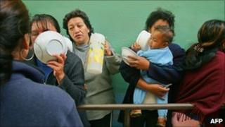 Women inmates at a prison in Ecuador (file)