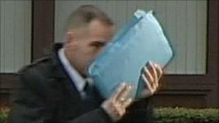 Robert Else arriving at Nottingham Magistrates' Court