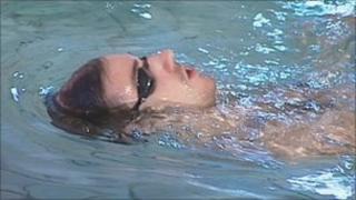 Ben swimming