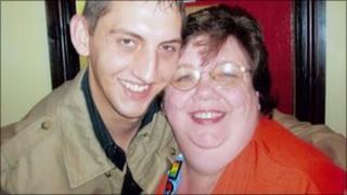 Patricia Ashton (right) with son Ian (pic: Irwin Mitchell)