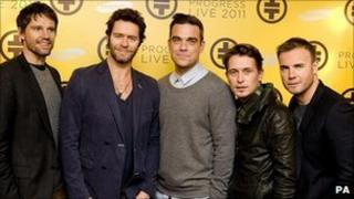 The full line up of Take That