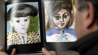 Picasso's Paul en costume de toreador, left, Paloma a la poupee, right