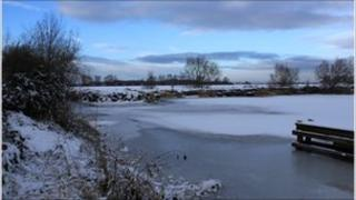 An iced-over Kinnego marina taken by S Patterson