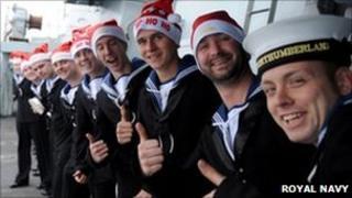 HMS Northumberland crew