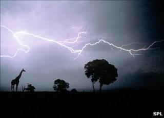 Lightning over Africa (SPL)
