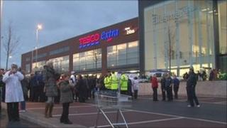 Tesco in Walkden after the explosion