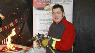 "Nathan Outlaw with fire service ""menu"""