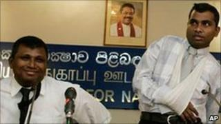 Tamil doctors appear before the media