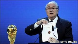 Sepp Blatter reveals Russia to be the 2018 World Cup hosts