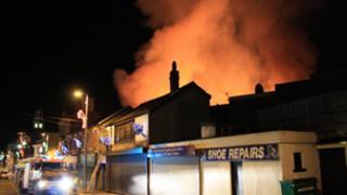 Fire at Maesteg. Pic: Steve Maddern