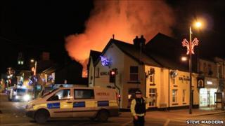Fire in Maesteg Photo: Steve Maddern